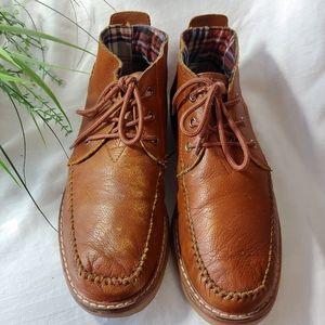 Men's Brown Leather Tom's Booties 10M